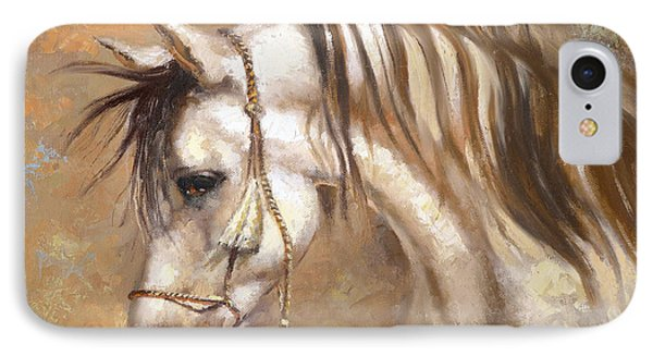 IPhone Case featuring the painting Horse by Dmitry Spiros