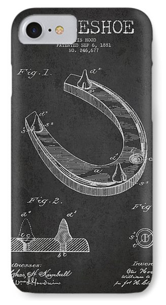 Horseshoe Patent Drawing From 1881 Phone Case by Aged Pixel