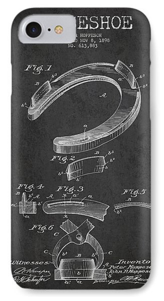 Horseshoe Patent Drawing From 1898 Phone Case by Aged Pixel