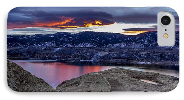Horsetooth At Sunset IPhone Case by Bob Younger