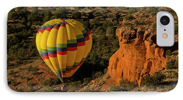 Hot Air Balloon, Red Rock, Coconino IPhone Case