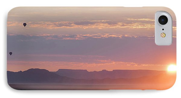 Hot Air Balloons Rising Above Desert IPhone Case by Panoramic Images