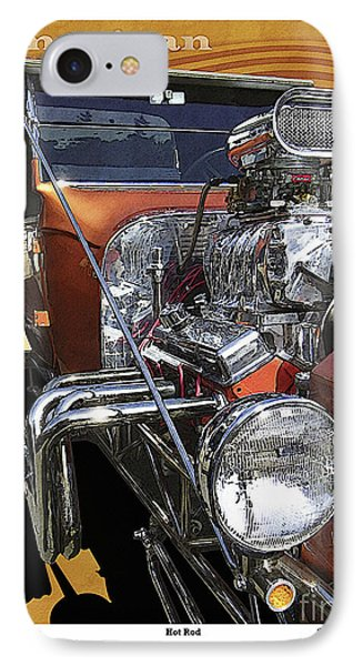 Hot Rod IPhone Case by Kenneth De Tore