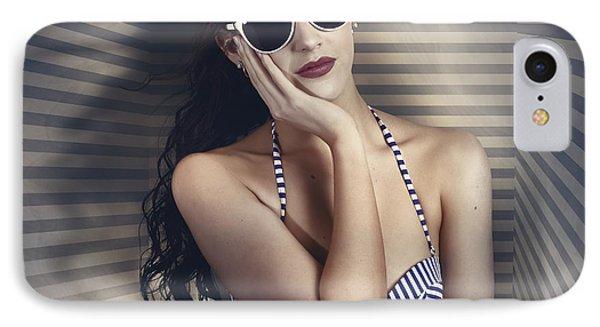 Hot Summer Fashion Beauty In Sunglasses And Bikini IPhone Case