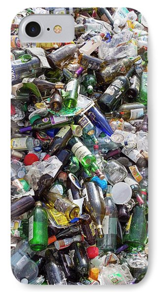 Household Waste At A Recycling Plant IPhone Case