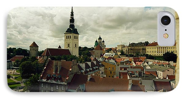 Houses In A Town, Tallinn, Estonia IPhone Case by Panoramic Images