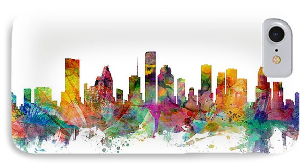 Houston Texas Skyline IPhone 7 Case by Michael Tompsett