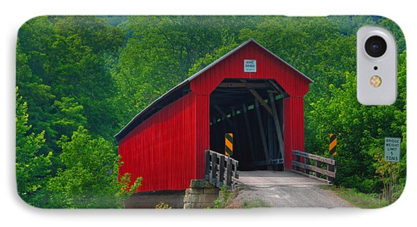 Hune Covered Bridge Phone Case by Jack R Perry