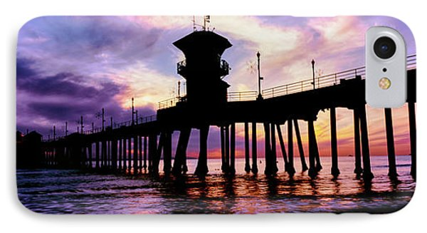 Huntington Beach Pier At Sunset IPhone Case by Panoramic Images