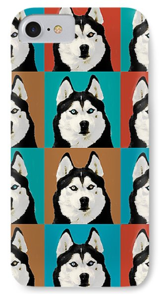 Husky Pop Art IPhone Case by Susan Stone