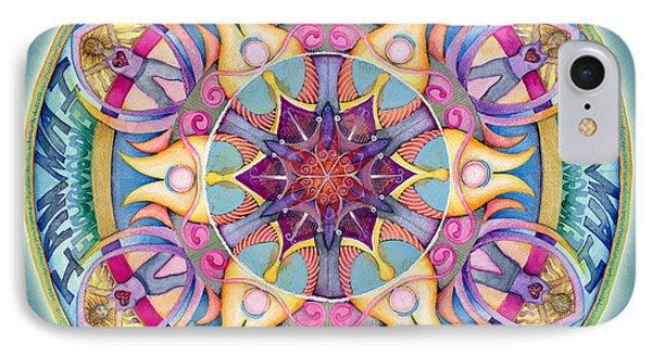 I Am Enough Mandala Phone Case by Jo Thomas Blaine