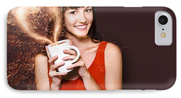 I Love Hot Coffee IPhone Case by Jorgo Photography - Wall Art Gallery