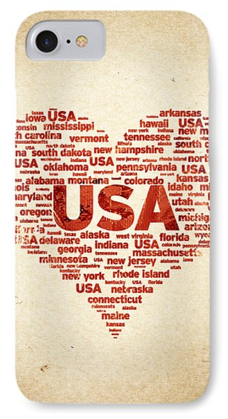 I Love Usa IPhone Case