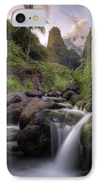Iao Needle Sunset IPhone Case by Hawaii  Fine Art Photography