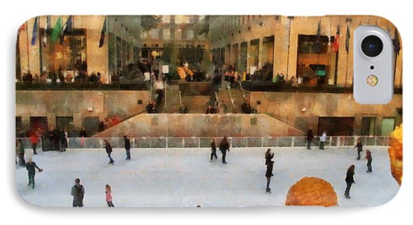 Ice Skating In New York City IPhone Case