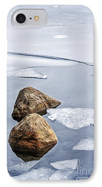 Icy Shore In Winter IPhone Case by Elena Elisseeva