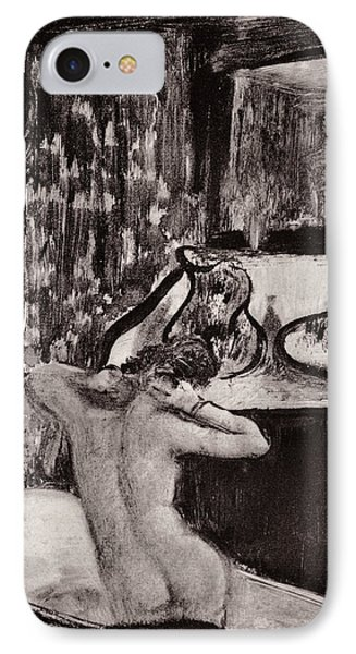 Illustration From La Maison Tellier By Guy De Maupassant  IPhone Case by Edgar Degas