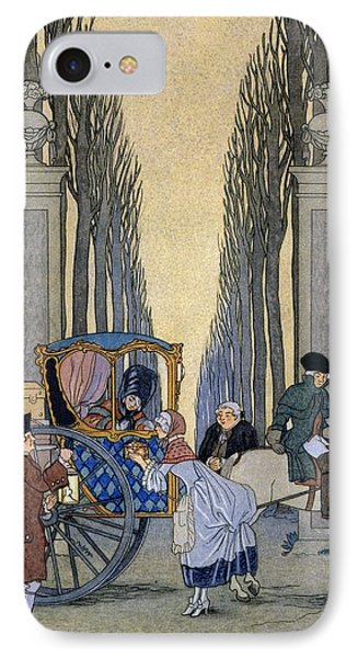 Illustration From 'les Liaisons Dangereuses'  IPhone Case by Georges Barbier