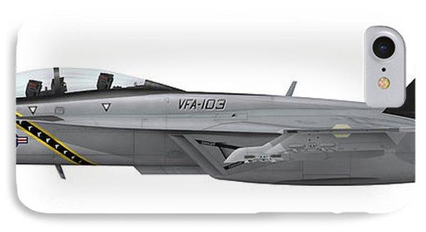 Illustration Of An Fa-18f Super Hornet IPhone Case