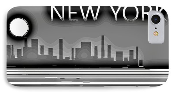 Impression New York And The Magic Moon IPhone Case by Sir Josef - Social Critic - ART