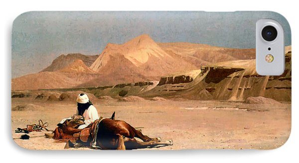 In The Desert Phone Case by Jean-Leon Gerome