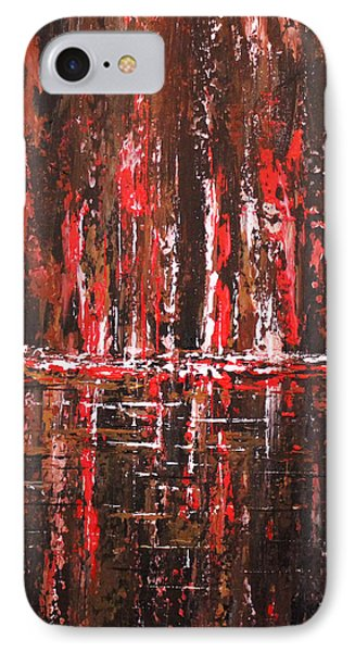 IPhone Case featuring the painting In The Heat Of The Night by Patricia Lintner