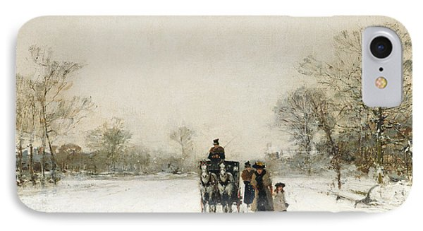 In The Snow IPhone Case by Luigi Loir