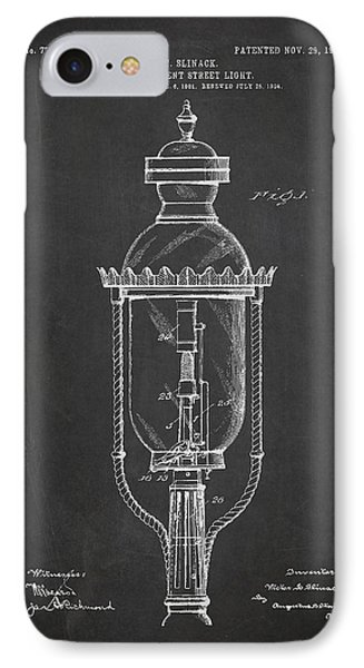 Incandescent Street Light Patent Drawing From 1904 IPhone Case