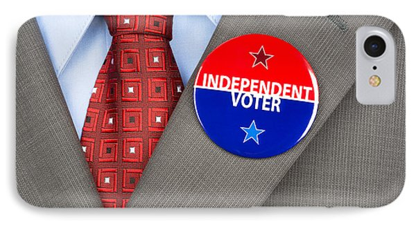 Independent Voter Pin IPhone Case by Joe Belanger
