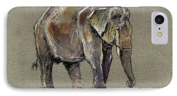 Indian Elephant IPhone Case by Juan  Bosco