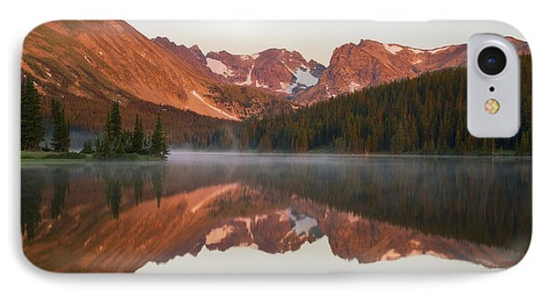 Indian Peaks At Sunrise IPhone Case by Morris  McClung