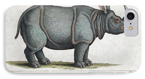 Indian Rhinoceros IPhone Case by Paul D Stewart