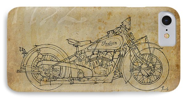 Indian Scout 1932 IPhone Case by Pablo Franchi