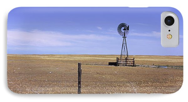 Industrial Windmill On A Landscape IPhone Case by Panoramic Images