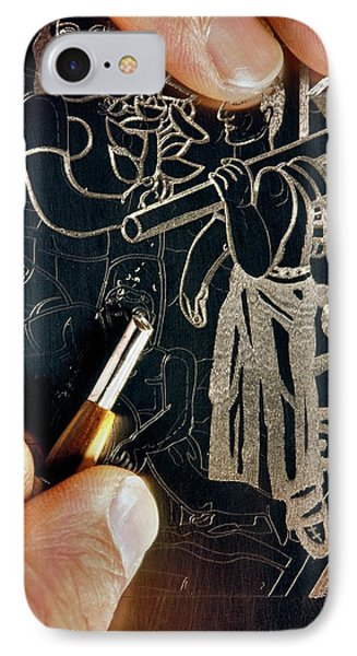 Intaglio Printmaking IPhone Case by Patrick Landmann