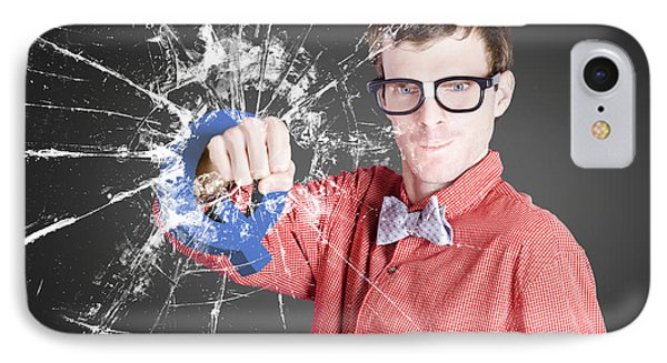 Intelligent Young Man With Good Idea IPhone Case by Jorgo Photography - Wall Art Gallery