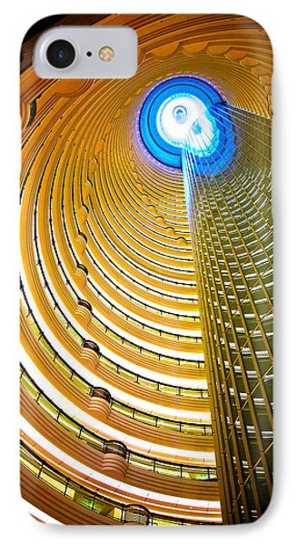 Interiors Of Jin Mao Tower Looking IPhone Case by Panoramic Images