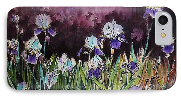Iris In My Backyard IPhone Case by Ping Yan