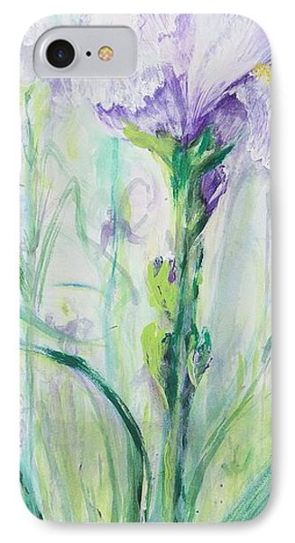 IPhone Case featuring the painting Iris Number One by Cathy Long