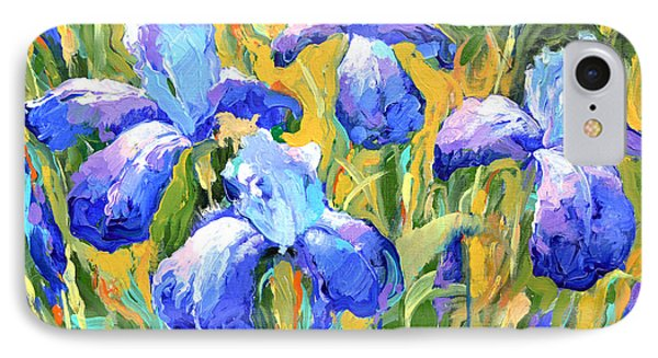 IPhone Case featuring the painting Irises by Dmitry Spiros