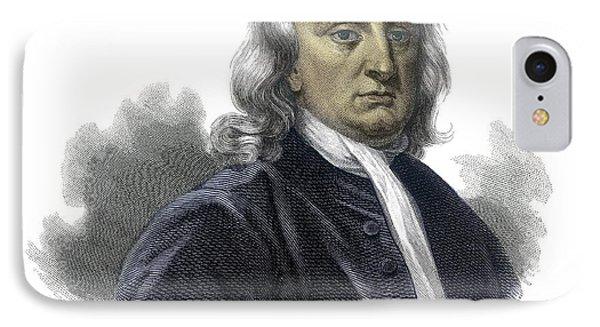 Isaac Newton IPhone Case by Detlev Van Ravenswaay