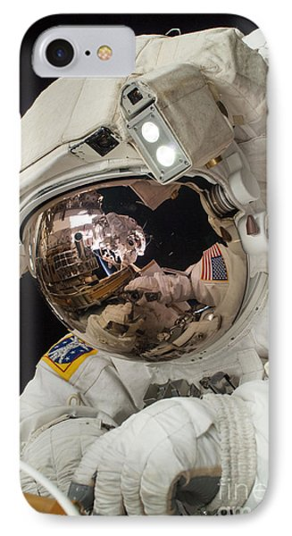 Iss Expedition 38 Spacewalk Phone Case by Science Source