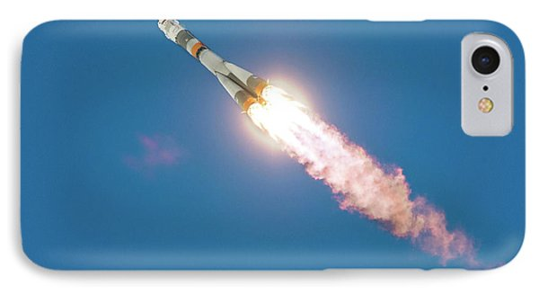 Iss Expedition 46 Launching IPhone Case by Nasa/joel Kowsky