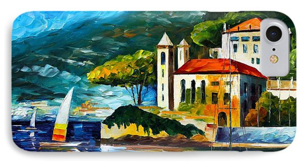 Italy Lake Como Villa Balbianello Phone Case by Leonid Afremov