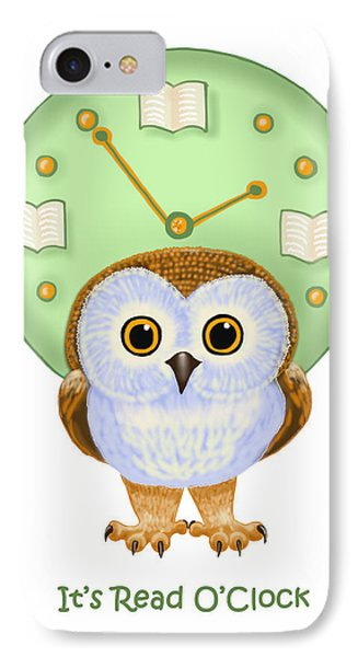 IPhone Case featuring the painting It's Read O'clock by Leena Pekkalainen