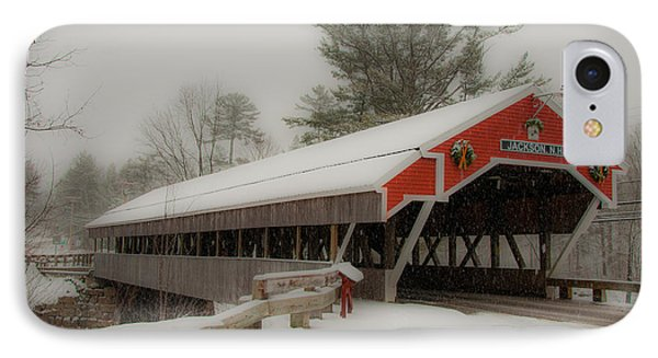 Jackson Nh Covered Bridge IPhone Case by Brenda Jacobs