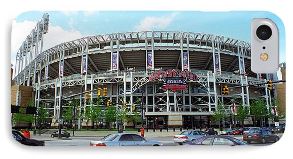 Jacobs Field - Cleveland Indians Phone Case by Frank Romeo