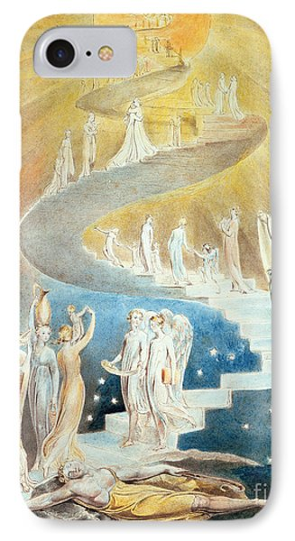 Jacob's Ladder IPhone Case by William Blake