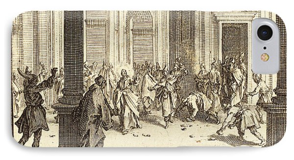 Jacques Callot French, 1592 - 1635, Stoning Of Jesus IPhone Case by Quint Lox
