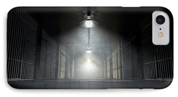Jail Corridor And Cells IPhone Case by Allan Swart
